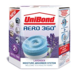 View Unibond Aero 360 Moisture Absorber System Lavender Refill, Pack of 2 details