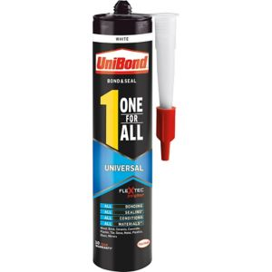 Image of UniBond One for all universal Solvent-free White Grab adhesive & sealant