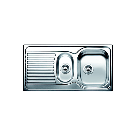 Blanco Toga Sink : Blanco Toga 1.5 Bowl Polished Stainless Steel Sink & Drainer ...