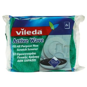 View Vileda Green Sponge Scourer, Pack of 2 details