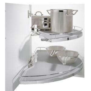 Kesseböhmer Corner Cabinet Half Carousel  1000mm