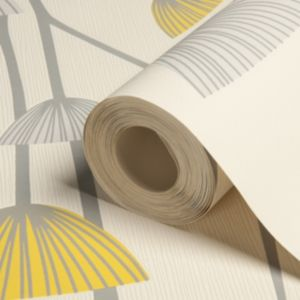 View Dandelion Dandelion Grey, White & Yellow Wallpaper details