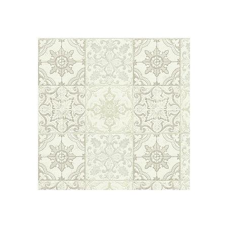 Chatsworth beige cream white mosaic tile wallpaper for White tile wallpaper