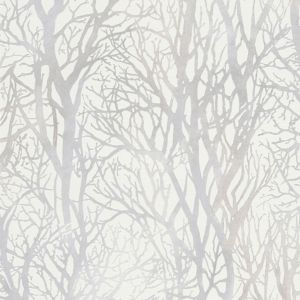 Image of A.S. Creation Life 4 White Tree Metallic Finish Wallpaper