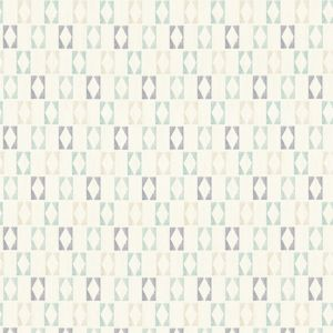 Image of A.S. Creation Bjorn White blue & grey Geometric Wallpaper