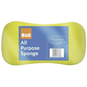 View B&Q Yellow Foam Sponge Pack of 1 details