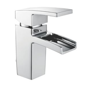 View Cooke & Lewis Cascade 1 Lever LED Light Basin Mixer Tap details