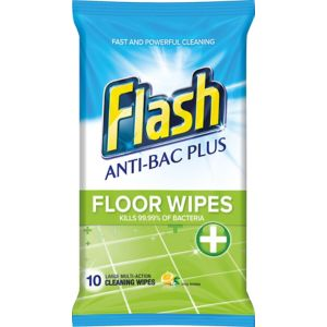 Image of Flash Crisp lemon Floor wipes Pack of 10