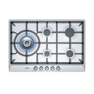 View Bosch 5 Burner Cast Iron & Stainless Steel Gas Hob details