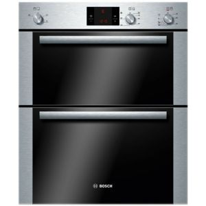 View Bosch HBN13B251B Silver Electric Double Oven details