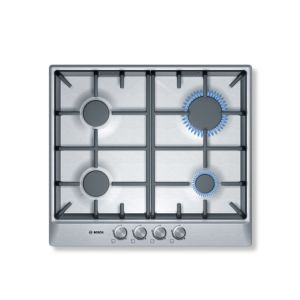 View Bosch 4 Burner Cast Iron & Stainless Steel Gas Hob details