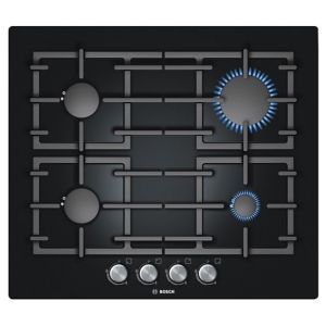 View Bosch 4 Burner Black Cast Iron Gas Hob details