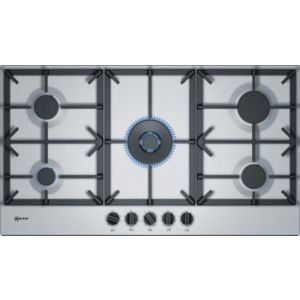 Bosch T29DS69N0 5 Burner Black Stainless Steel Gas Hob