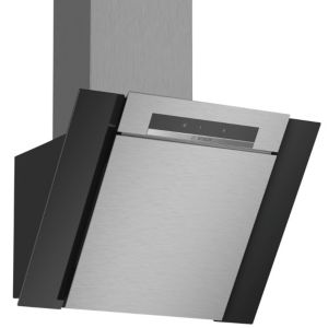 Bosch DWK67BM60B Stainless steel Chimney Cooker hood  (W) 600mm