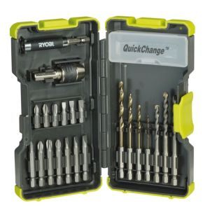 View Ryobi 2-6 mm Quick Change Screwdriver Bit Accessory Set, 22 Piece details