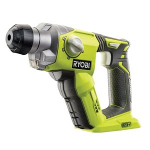 Ryobi One Cordless 18V LiIon SDS Plus Drill without Batteries R18SDS0BARE