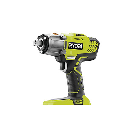 ryobi one cordless 18v li ion brushed impact wrench. Black Bedroom Furniture Sets. Home Design Ideas