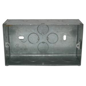 View Holder Silver Steel Double Pattress Box 47 mm details