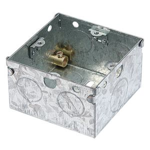 View Holder Silver Steel Single Pattress Box 47 mm details