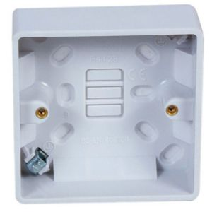 View Marbo White Thermoset Single Pattress Box details
