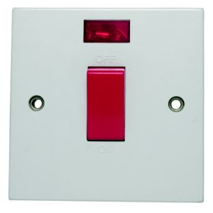 View Marbo White 45A Neon Cooker Switch details