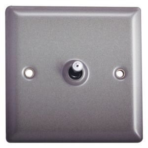 Image of Holder 10A 2 way Matt grey pewter effect Single Toggle Switch