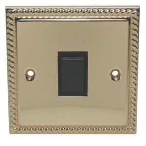 Image of Holder 10A 2 way Polished brass effect Single Light Switch