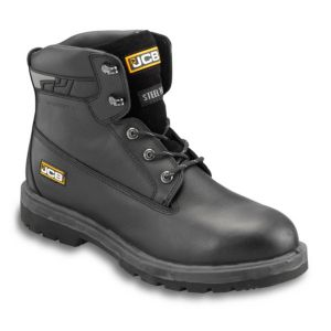JCB Black Protector Safety Boots  Size 6