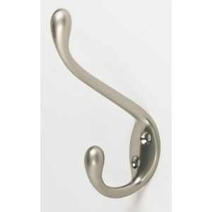 View Satin Nickel Effect Hat & Coat Hook details