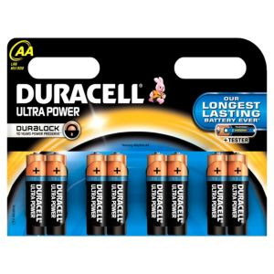 View Duracell Ultra Single Use AA Alkaline Batteries Pack of 8 details