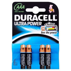 View Duracell Ultra Single Use AAA Alkaline Batteries Pack of 4 details