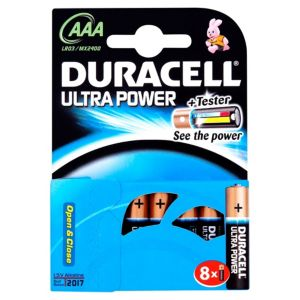 View Duracell Ultra Single Use AAA Alkaline Batteries Pack of 8 details