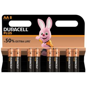 View Duracell Plus AA Alkaline Batteries, Pack of 8 details