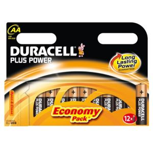 View Duracell Plus AA Alkaline Batteries, Pack of 12 details