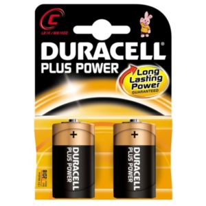 View Duracell Plus Single Use C Alkaline Batteries Pack of 2 details