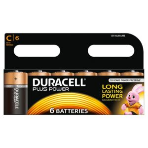 View Duracell Plus Power C Alkaline Batteries, Pack of 6 details