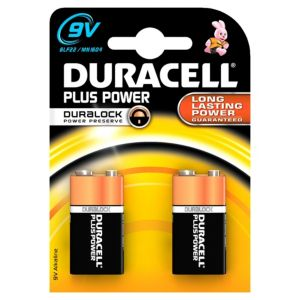 View Duracell Plus Single Use 9V Alkaline Batteries Pack of 4 details