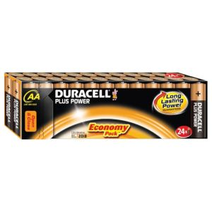 View Duracell Plus Single Use AA Alkaline Batteries Pack of 24 details