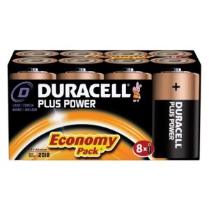 View Duracell Plus D Alkaline Batteries, Pack of 8 details