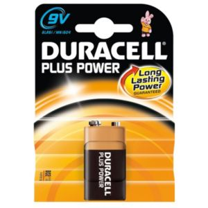 View Duracell Plus Single Use 9V Alkaline Battery Pack of 1 details