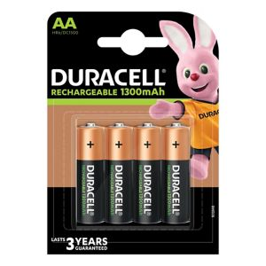 View Duracell Rechargeable AA Ni-Mh Batteries, Pack of 4 details