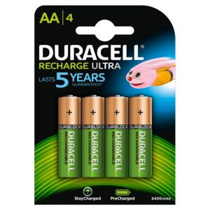 View Duracell Recharge Plus Rechargeable AA Batteries, Pack of 4 details