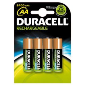 View Duracell Rechargeable AA Ni-Mh Battery, Pack of 4 details
