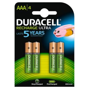 View Duracell Recharge Plus Rechargeable AAA Batteries, Pack of 4 details