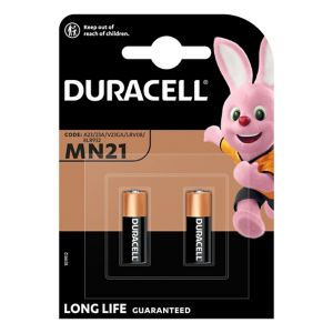 View Duracell Security Single Use MN21 Alkaline Batteries Pack of 2 details
