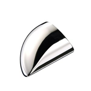 Image of Trademark Round Polished Chrome effect Metal End cap (L)84mm (W)59mm