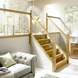 Image of Immix Modern Pre-finished Natural Oak Handrail (L)3.6m (W)60mm