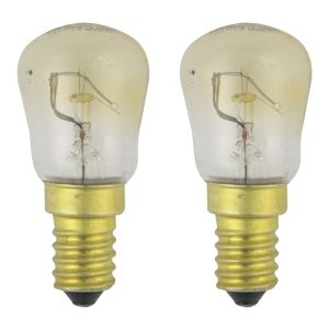 View GE Small Edison Screw Cap (E14) 15W Incandescent GLS Light Bulb, Pack of 2 details