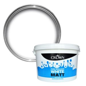 View Crown Pure Brilliant White Matt Emulsion Paint 10L details