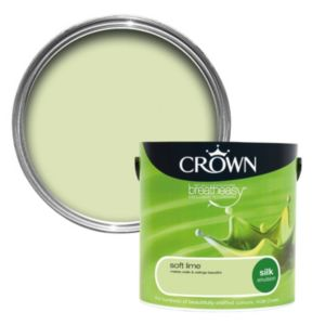 View Crown Breatheasy® Soft Lime Silk Emulsion Paint 2.5L details
